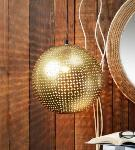 Noble Electricals Gold Arine Etched Metal Ball Pendant Light NED11.62