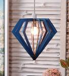 Noble Electricals Diamond Sea Green Pendant Light NED11.49