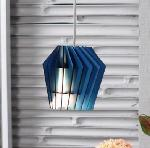 Noble Electricals Whirlpool Blue Wood Pendant Light NED11.53