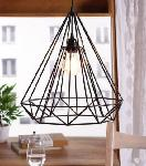 Noble Electricals Sergio Black Diamond Cage Pendant Light NED11.35