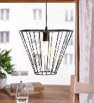 Noble Electricals Corral Black Cage Pendant Light NED11.37