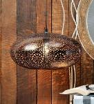 Noble Electricals Blackish Copper Anora Etched Metal Pendant Light