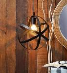 Noble Electricals Black Metal Ring Industrial Pendant Light NED11.66