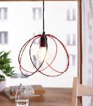 Noble Electricals Valerio Red Cage Pendant Light NED11.36