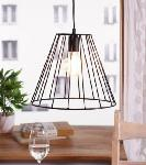 Noble Electricals Lave Black Cage Pendant Light NED11.47