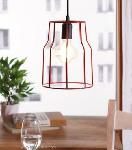 Noble Electricals Costa Red Cage Pendant Light NED11.45