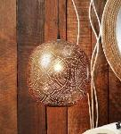 Noble Electricals Copper Candela Etched Metal Pendant Light NED11.58