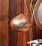 Noble Electricals Copper Alena Etched Metal Pendant Light NED11.64