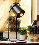 Noble Electricals Black Mojo Metal Table Lamp NED13.37