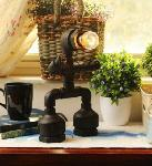 Noble Electricals Black Pipeman Table Lamp NED 8.1