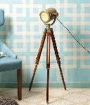 Noble Electricals Antique Marine Nautical Tripod Floor Lamp NED13.15