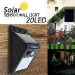 Standard Led Solar Sensor Wall Light 20 Led