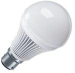 Power LED Bulb 9W B22 Pin Type (Set Of 9 Pieces, Cool White)