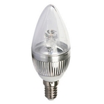 Clair 4W Silver E14 Screw Type LED Candle Bulb