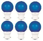Luminous 0.5W LED Bulb Amber ECO B22D Blue - Pack Of 6