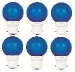 Luminous 0.5W LED Bulb Amber ECO B22D Blue - Pack Of 6