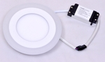 Powerlite 2CPRW6 6+3W Round LED Panel Light Pack Of 2