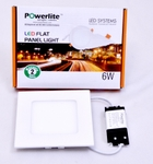 Powerlite FPSW6 Cool White 6W Square LED Panel Light Pack Of 2