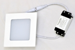 Powerlite BPSW6 Cool White 6W Square LED Panel Light Pack Of 2