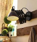 Noble Electricals Black Swing Arm Industrial Wall Light NED10.26