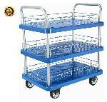 Bigapple WH-3 300 Kg Capacity Blue Industrial Trolley