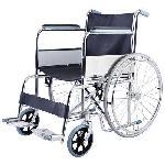 IB Care Folding Wheelchair With Spoke Wheels SS Finish 601