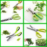 Standard Herb Scissors Stainless Steel - Multipurpose Kitchen Shear With 5 Blades
