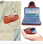 Standard Card Holder 1 Piece Assorted Color Atm Slot Black Or Brown Color May Vary