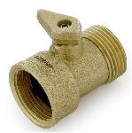 Zephyr Hose Fitting Brass Shut-off Tap 3/4 Inch
