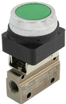 "Akari 1/8"" 3/2 Way Push Button (Green Button) MOV-3A (GREEN)"
