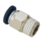 JELPC 1/8 Inch Straight Connector With Male Thread 12x1/8