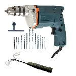 Tiger 10mm Electric Drill Machine With Hammer + 13 Pcs HSS Bit